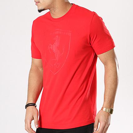 Puma - Tee Shirt Ferrari Big Shield 575241 02 Rouge -  LaBoutiqueOfficielle.com 67ff99b8ed1