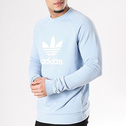 pull adidas bleu clair