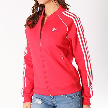 veste adidas sst rouge