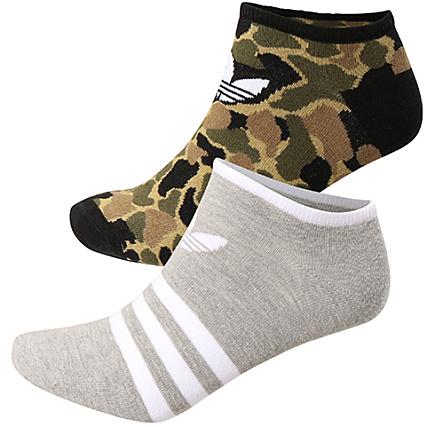 a979dd52382958 adidas - Lot De 2 Paires De Chaussettes CE5717 Gris Chiné Vert Kaki  Camouflage - LaBoutiqueOfficielle.com