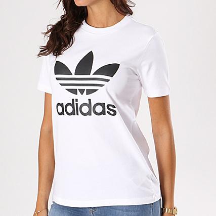t shirt adidas femme blanc et noir