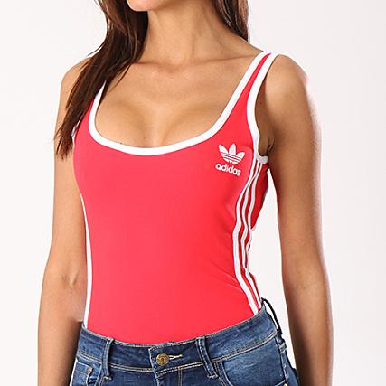 Stripes Body Rouge Femme 3 Ce5601 Adidas 8X0OPknwN