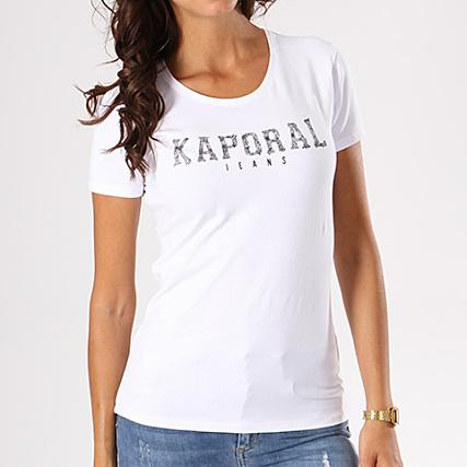 Kaporal Tee Shirt Femme Visa Blanc