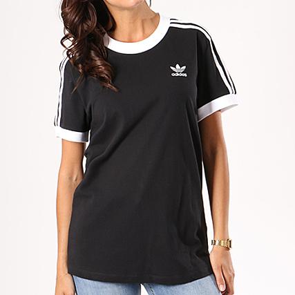 Home   adidas   T-shirts   adidas - Tee Shirt Femme 3 Stripes CY4751 Noir  Blanc 840dc920813