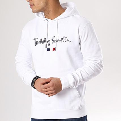 Teddy Smith Capuche Sweat Ixq0hyww7 Seven Blanc cwtYqO51O