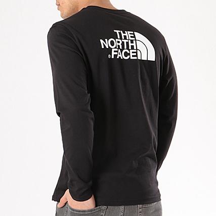63a67a7314490 The North Face - Tee Shirt Manches Longues Easy Noir -  LaBoutiqueOfficielle.com