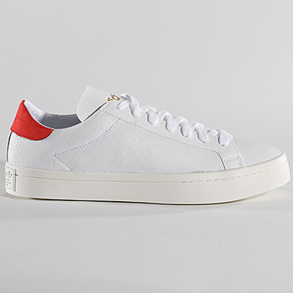 the latest 476d6 8920e Home  adidas  Baskets - Chaussures  Baskets Basses  adidas - Baskets  Court Vantage CQ2566 Footwear White Red