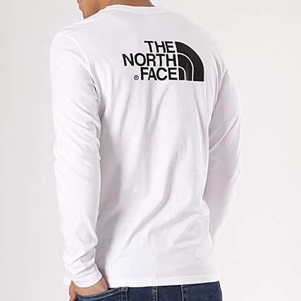 b4ef94f2b0a81 The North Face - Tee Shirt Manches Longues Easy Blanc Noir -  LaBoutiqueOfficielle.com