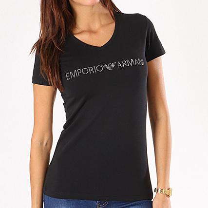 9dc25ca5b45 Emporio Armani - Tee Shirt Femme 163321-8P263 Noir -  LaBoutiqueOfficielle.com