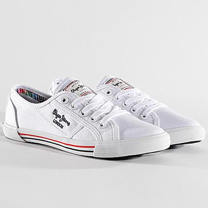 Basic Pepe White Jeans Femme Aberlady 17 Baskets Pls30500 P80kwnOX
