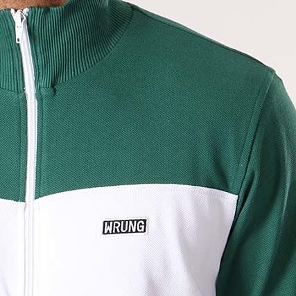 Wrung Vert Veste Zippée Blanc Royal SqSRgr