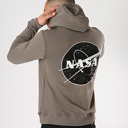NASA Sweat Capuche Insignia Desaturate Vert Kaki