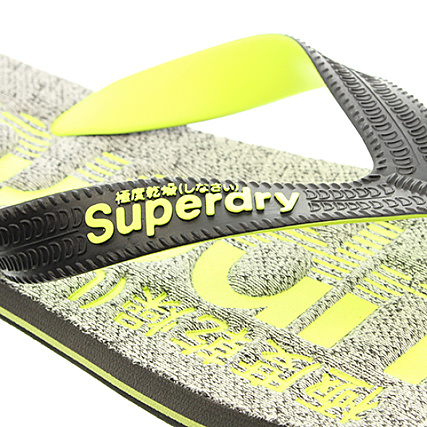Fluo Gris Tongs Anthracite MF3278SQF7 Scuba Jaune Chiné Superdry aq0wOPT44
