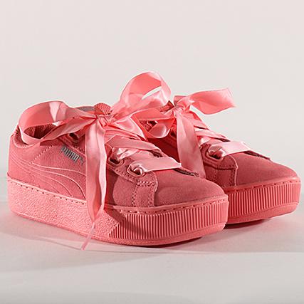 5193b3bd47d5 Puma - Baskets Femme Vikky Platform Ribbon 366418 03 Shell Pink -  LaBoutiqueOfficielle.com