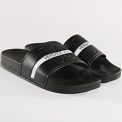 Réduction 100% qualité garantie grande sélection Versace Jeans - Claquettes Linea Mare Dis 1 E0GRBSH1 Noir ...