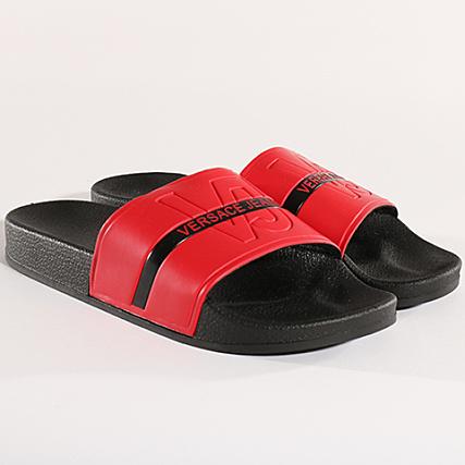 1c850767847 1 E0grbsh1 Mare Claquettes Jeans Versace Noir Linea Rouge Dis CqRzfwX