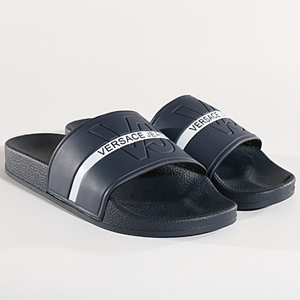 cbd8ce1428a Versace Jeans - Claquettes Linea Mare Dis 1 E0GRBSH1 Bleu Marine -  LaBoutiqueOfficielle.com