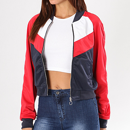 Veste tricolore femme bleu blanc rouge