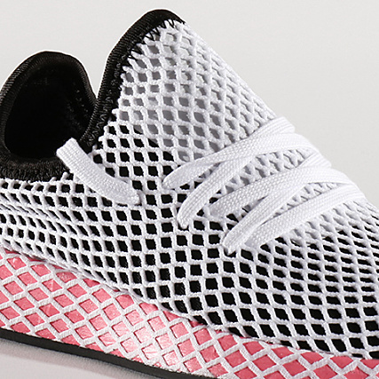outlet store ef1b4 f5838 Home   adidas   Baskets - Chaussures   Baskets Basses   adidas - Baskets  Femme Deerupt Runner CQ2909 Core Black Chalk Pink