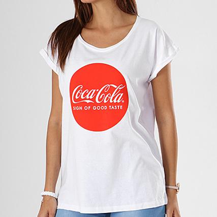 Mc067 Coca Mujer Cola Blanco Camiseta XZuPki