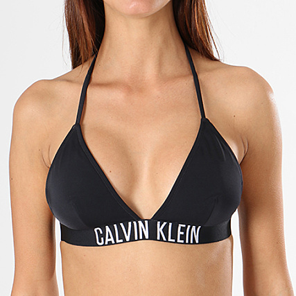 bc07147742 Calvin Klein - Haut De Maillot De Bain Femme Fixed Triangle KW0KW00200 Noir  - LaBoutiqueOfficielle.com
