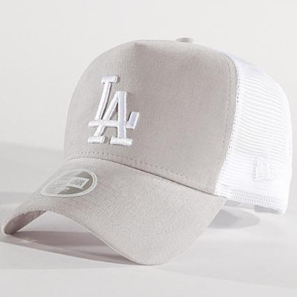 New Era - Casquette Trucker Femme Micro Cord Los Angeles Dodgers 80581100  Gris Blanc - LaBoutiqueOfficielle.com 805874a2207
