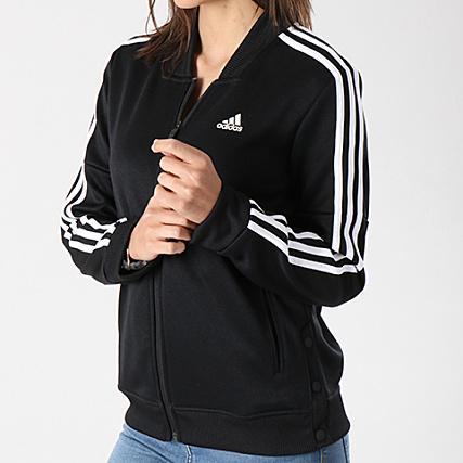 8a1fdaea02b adidas - Veste Zippée Femme Snap CE6024 Noir Blanc -  LaBoutiqueOfficielle.com