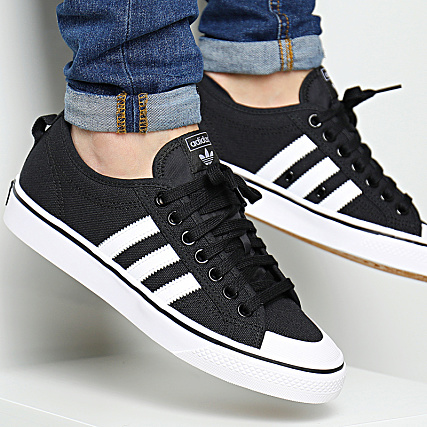 White Adidas Baskets Nizza Footwear Core Black Cq2332 ALq4Sc35Rj