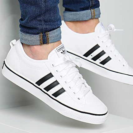 Footwear Black Adidas Baskets Cq2333 Core Nizza White dhsQtr