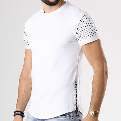 Aarhon Tee Shirt Oversize Zips 18 008 Blanc
