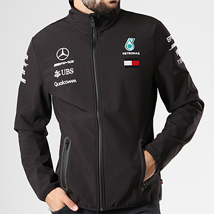 AMG Mercedes Veste Zippée Team Softshell Noir