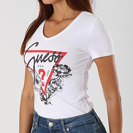Shirt Blanc Femme Tee Guess W83i29k6yw0 34ARL5jq