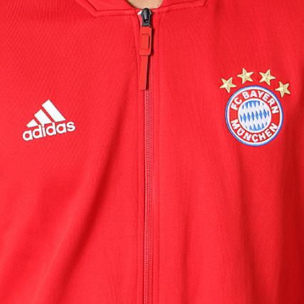 adidas Veste Zippée FC Bayern Munchen CY6107 Rouge