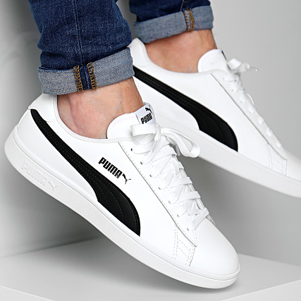 Puma Baskets Smash V2 L 365215 01 White Black
