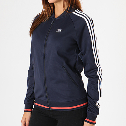 adidas Veste Zippée Femme SST Track Top DH2979 Bleu Marine