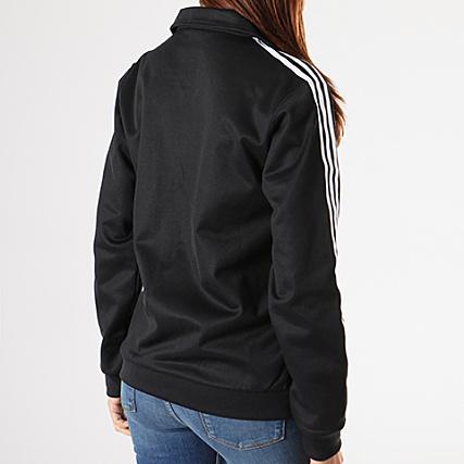 Zippée Contemp DH3192 Femme Blanc adidas Noir Veste BB N8wmn0