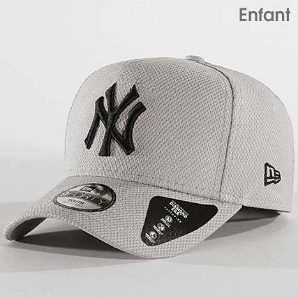 dd876b7b9315 New Era - Casquette Enfant Diamond Era A Frame 9 Forty MLB New York Yankees  80581084 Gris - LaBoutiqueOfficielle.com
