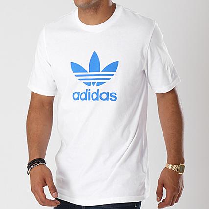 Tee Dh5774 Adidas Blanc Trefoil Clair Shirt Bleu JcK13lFT