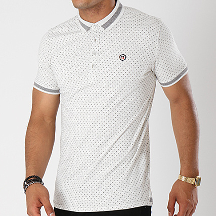 Pepper Gris Polo Teddy Smith Chiné Manches Courtes Cw7nx