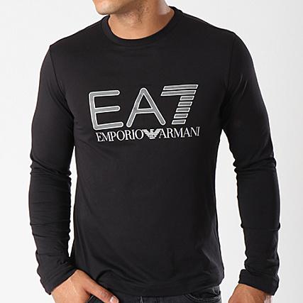 EA7 - Tee Shirt Manches Longues 6ZPT24-PJM9Z Noir - LaBoutiqueOfficielle.com 3912d9d0994a