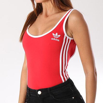 Body Femme Stripes 3 Adidas Dn8143 Rouge Ok8PNnw0XZ