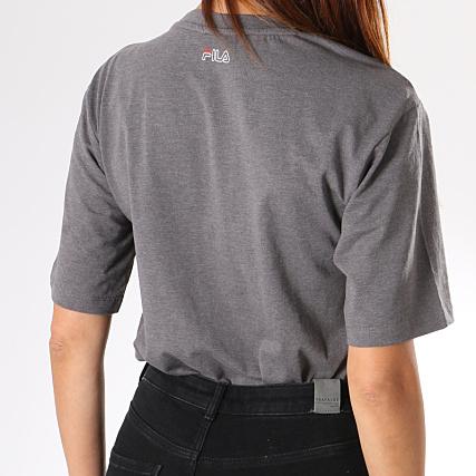 Fila Tee Shirt Femme Lei 682062 Gris Anthracite Chiné