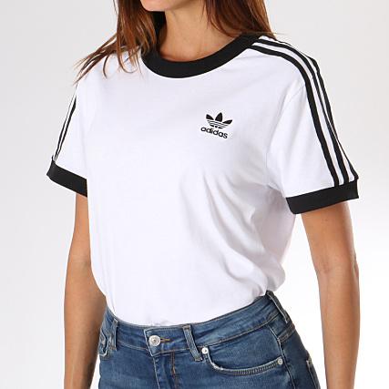 adidas - Tee Shirt Femme 3 Stripes DH3188 Blanc ...