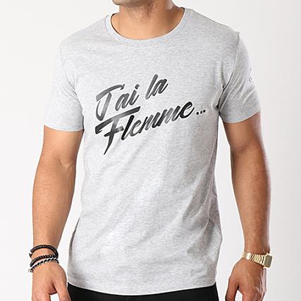 Ace La Tee Chiné Shirt J'ai Flemme D Gris cA3j5L4Rq