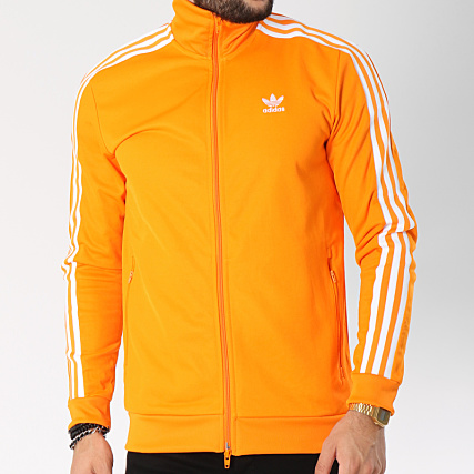 77a45500c7 adidas - Veste Zippée Bandes Brodées Beckenbauer TT DH5821 Orange Blanc -  LaBoutiqueOfficielle.com