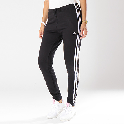 Jogging Dh3123 Femme Adidas Regular Pantalon Cuffed Noir J1FcKl