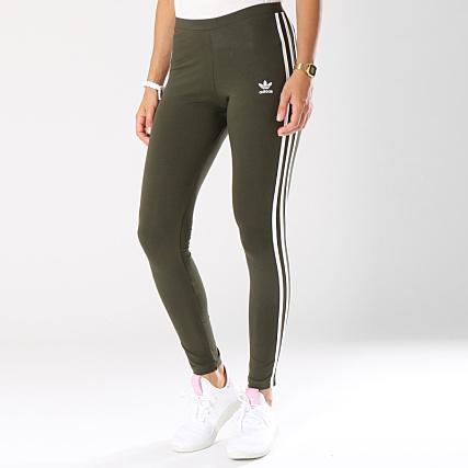 clearance sale usa cheap sale famous brand adidas - Legging Femme 3 Stripes DH3171 Vert Kaki ...
