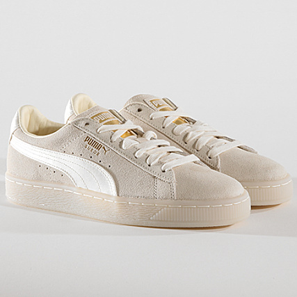 ef6a26e5f53 Puma - Baskets Femme Suede Classic Satin 367829 02 Whisper White Metallic  Gold - LaBoutiqueOfficielle.com