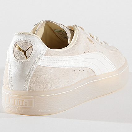 Puma Baskets Femme Suede Classic Satin 367829 02 Whisper