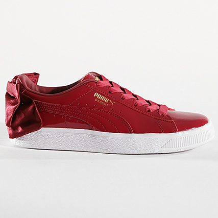 Bow Puma Patent Femme Red Baskets 368118 White Tibetan 04 I76bfvygY